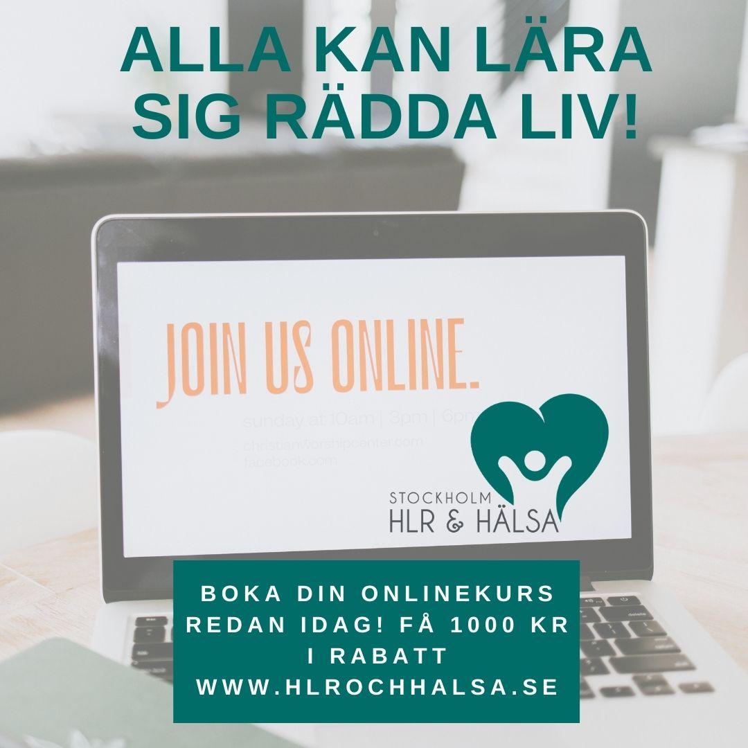 Lär dig rädda liv! Julerbjudande med 1000 kr i rabatt på Onlineutbildning i Hjärt-Lungräddning